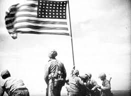 Famous Picture Of Soldiers Putting Up Flag Flag Raisers 5th Marine Division