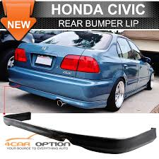 honda civic rear 96 98 honda civic 2 4 door pu urethane rear bumper lip spoiler