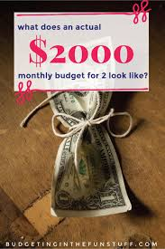 how to create a realistic household budget money matters an actual 2000 per month budget budgeting in the fun stuff