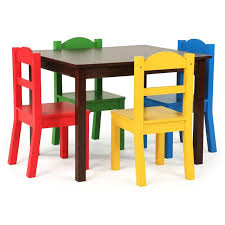 tot tutors table chair set tot tutors discover walnut prime wood table and 4 chair set toys r us