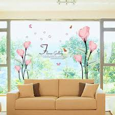compare prices on tv wall decal online shopping buy low price tv 120 175cm flower gallery wall stickers living room bedroom tv wall decals home decoration wallpaper