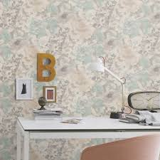 rasch florentine chic floral wallpaper grey pink natural coral