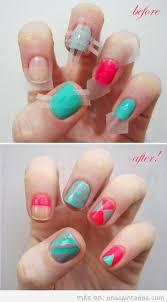figuras geometricas uñas uñas geométricas decoraciones con figuras bonitas y llenas de color