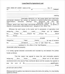 land lease agreement template https images template net wp content uploads 201