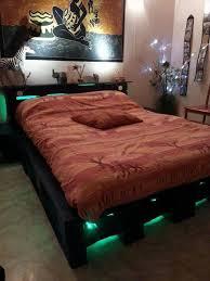 bed frame with lights wood pallet bed frame with lights best interior