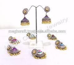 jhumki style earrings wholesale oxidized jhumki dangle earrings handmade partywear