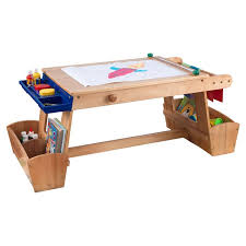 kids art table with storage drying rack and storage kids arts and crafts table tables