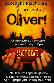 oliver musical presented spotlight playhouse
