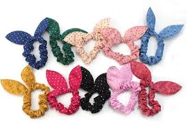 hair bow tie 10x women s dot rabbit ear hair bow tie bands 2 08 shipped