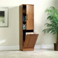 sauder kitchen storage cabinets wood kitchen trash can holder lovely sauder homeplus storage cabinet