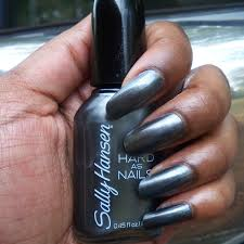 poppin u0027 nail color of the week sally hansen hard as nails steely