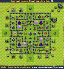 layout vila nivel 9 clash of clans layouts de centro de vila 9 para clash of clans clash of clans dicas
