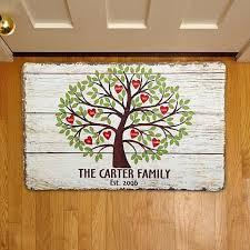 Disney Doormat Personal Creations Personalized Family Tree Of Hearts Doormat 17