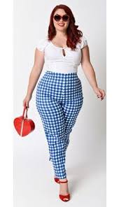 vintage style 1940s plus size dresses dress blues gingham and 1940s