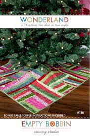 wonderland a christmas tree skirt pattern empty bobbin sewing