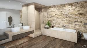Bad Holzboden Natürliche Materialien Wie Holz Und Natursteine Sowie Auch Warme