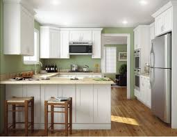 modern kitchen with frost painted faircrest kitchen cabinets