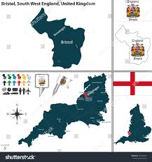 Devon England Map by Vector Map Bristol South West England Stock Vector 303239747