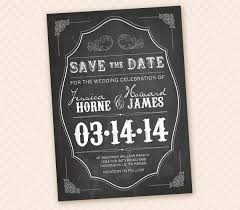 save the date designs rustic chalkboard save the date design for card