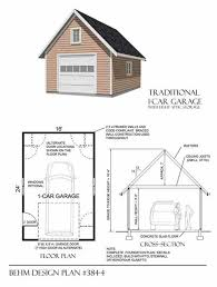 1 car garage plan no 384 4 by behm design 16 u0027 x 24 u0027 garage