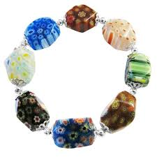 murano glass beads bracelet images Stretchable bracelet millefiori murano glass bead bracelet jpg