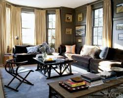paint colors for living room with dark brown couch home interior