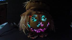 halloween lighted decorations kids of america halloween jack o u0027 lantern fiber optic pumpkin