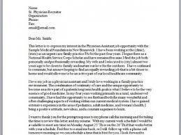 6 pa cover letter sample 10 physician assistant cover letter
