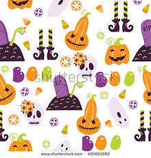 traditional halloween icons vector illustration stock vector