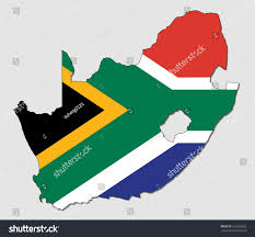 Map Of South Africa by Map South Africa Filled National Flag Stock Vector 553268533