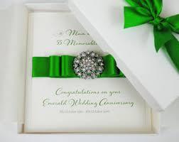 55th wedding anniversary emerald wedding etsy