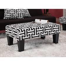 White Chair With Ottoman Kebo Ottoman Black And White Pattern Walmart