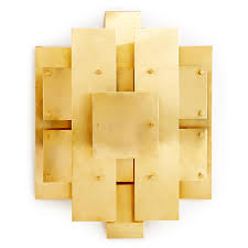 Brass Sconces Puzzle Sconce Modern Lighting Jonathan Adler