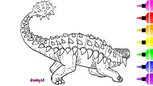 how to draw ankylosaurus monster dinosaur from jurassic world