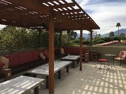 rooftop patio rooftop patio picture of los arboles hotel palm springs tripadvisor