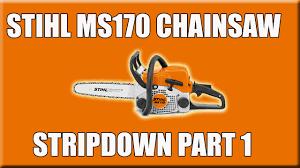 part 1 stihl ms170 chainsaw stripdown oil feed fuel tank clutch