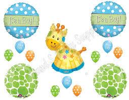 boy giraffe baby shower balloon kits baby shower mania