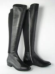 womens boots and bromley womens black leather vince camuto karita the knee boots