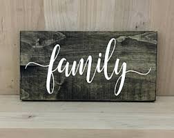 family wood rustic wooden etsy