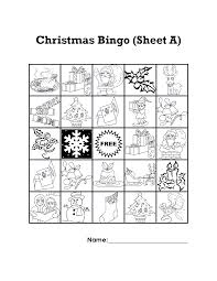 printable bingo cards christmas