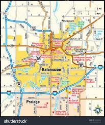 Michigan Map by Kalamazoo Michigan Map Michigan Map