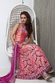 engagement lengha wl12 pink two tone designer contemporary lengha with one