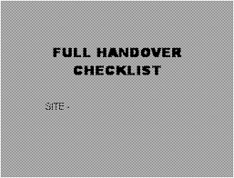 free legal form building handover full check list