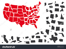 Map Of Usa Black And White by Vector Map Usa Individually States Separated Stock Vector 51305740