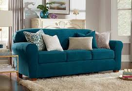 Teal Couch Slipcover Ultimate Stretch Chenille Slipcovers