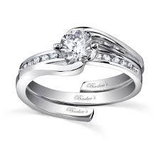 interlocking engagement ring wedding band barkev s white gold diamond engagement ring set
