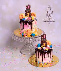 easter drip cakes akiko white
