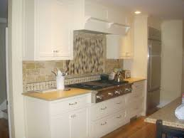 Small Kitchen Backsplash Small Kitchen Design And Decoration With Solid Walnut Wooden