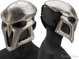 silver mask evike r custom fiberglass reaper mask color