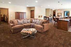 Lower Level Family Room With Wet Bar Traditional Basement - Family room carpet